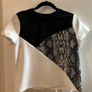 Shein animal print blouse